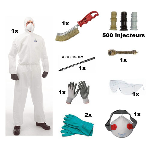 Kit pr paration injection traitement bois - Traitement charpente par injection ...